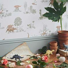 tienda online telas & papel | Papel pintado Dinosaurios rosas