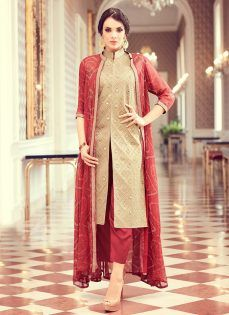 a42f363a7840e Latest Pakistani Indian Straight Cut Salwar Kameez 2018-19 Designs ...