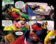 Dick Grayson's(Robin) affection to Barbara Gordon(Batgirl) Nightwing Annual #2