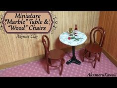Miniature Marble Table & Chairs - Polymer Clay Tutorial - YouTube