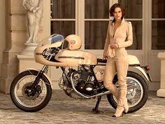 Kaira Knightley on a Ducati 750 Sport - in my head I totally look like this in my bike gear...
