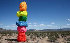 'Seven Magic Mountains' arrive in the Nevada desert   Wallpaper*