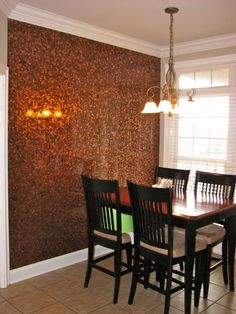 Looking up accent walls and came accross this beautiful DIY wall of pennies....wonder how much this costs?