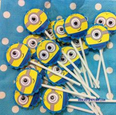 Minion cupcake picks.