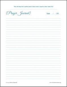 Free Printable Prayer Journal | A Virtuous Woman
