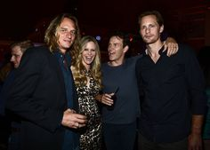 Kristin Bauer and Husband Laugh With Stephen Moyer and Alexander Skarsgard, July 14, 2012