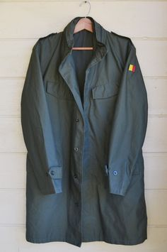 New Listing! Vintage Military German Parka Olive Green by founditinatlanta, $65.00