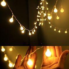 Dailyart 13feet/4m Long Globe String Light Starry Light for Gardens, Homes, Christmas Party, Battery-powered (Beige) Dailyart http://www.amazon.co.uk/dp/B00ZHNO8AS/ref=cm_sw_r_pi_dp_enR5wb17S92HN