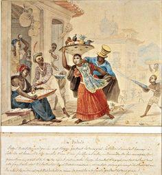 Dia do Entrudo, por Debret em 1823