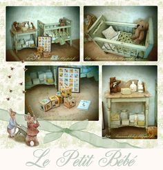Lissu's dollhouse That is so sweet baby room, I have always adored her works