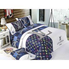 Louis Vuitton LV Bettwäsche günstig billig gut preiswert King Size Seide Baumwolle Bed Set 6 Teilig