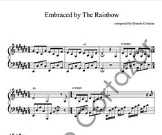 Embraced By The Rainbow - Piano Sheet Music now available on ErnestoCortazar.net