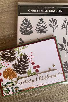 Painted Christmas Cards, Beautiful Christmas Cards, Homemade Christmas Cards, Stampin Up Christmas, Christmas Mom, Christmas Cards To Make, Xmas Cards, Homemade Cards, Holiday Cards