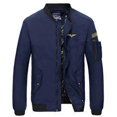 Men Cotton Jacket Coat Baseball Slim Fit Jackets Brand Plus Size Bomber  Fashion Casual Chaqueta Manteau Homme Coat SL E497-in Jackets from Men s  Clothing ... 4e7702e3153