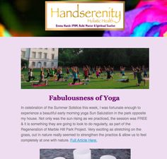 Handserenity Weekly Newsletter with this weeks 2 x blogs Fabulousness of Yoga & an Update on Crystal Cleansing - http://mailchi.mp/e8218f7ea167/fabulous-yoga  #newletter #blog #handserenity #yoga #stretgh #flexibility #health #summer #solstice #early #morning #self #realisation #development #mental #clarity #celebrate #blogging #blogger #holistic #reiki #energy #healing #healingcrystals #instadaily #instasun #instafit #instahealth