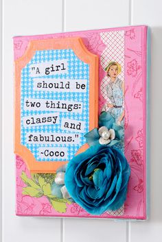 I can't see me doing stretched canvas but the other elements are right up my alley. Already making collages with paper, ribbon, rhinestones and gems.