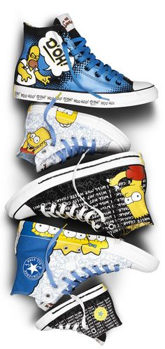 The Simpsons x Converse Chuck Taylor All Star - EU Kicks: Sneaker Magazine Mode Converse, Converse Shoes, Converse Chuck Taylor All Star, Converse All Star, Ankle Boots, Star Shoes, Nikes Girl, Victorias Secret Models, Kinds Of Shoes