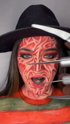 Halloween 2020, Halloween Diy, Halloween Makeup, Halloween Costumes, Horror Makeup, Creative Makeup, Colorful Makeup, Vikings, Fantasy
