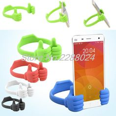 Lovely Cute Mini Mobile Phone Stand Thumb Support Holder Bracket for iPhone and Others(Assorted Colors)