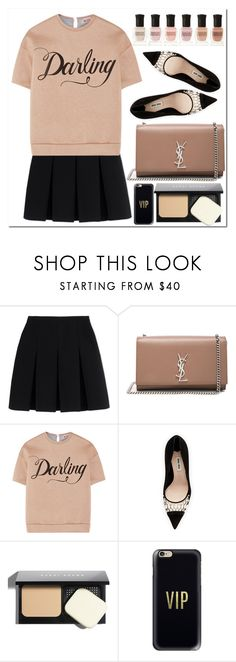 """Untitled #1119"" by samha ❤ liked on Polyvore featuring Alexander Wang, Yves Saint Laurent, N°21, Miu Miu, Bobbi Brown Cosmetics, Casetify and Deborah Lippmann"
