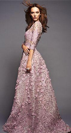 Elie Saab//wedding reception dress for garden wedding.