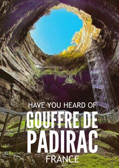 Have You Ever Heard Of Gouffre de Padirac In The South Of France? - Hand Luggage…