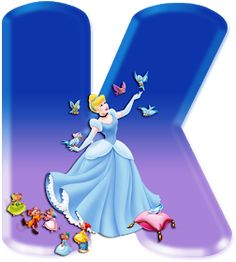 Disney Princess Birthday Party, Cinderella Party, Alphabet Art, Alphabet And Numbers, Flower Letters, Monogram Letters, Scrapbook Da Disney, Letter K Design, Abc Letra