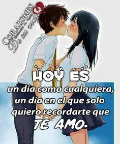 Te amo mi amor Am In Love, I Love You, Stupid Love, Cartoons Love, Jenni Rivera, Love Quotes For Her, Anime Love, Romance, Relationship
