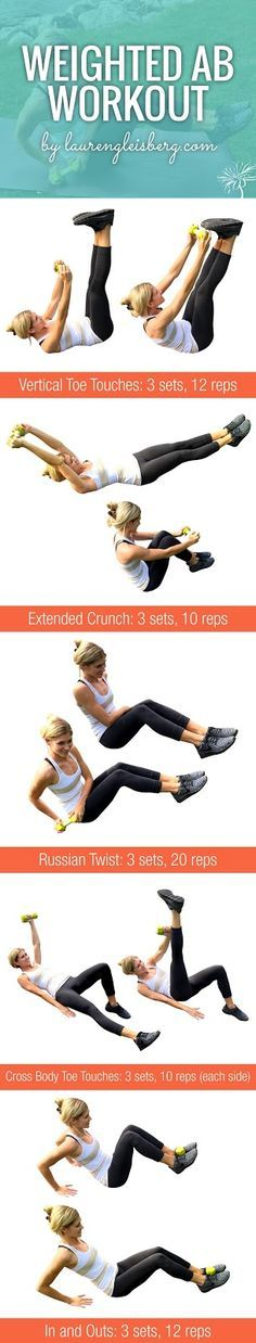 WEIGHTED AB WORKOUT | click for the full fitness plan by LaurenGleisberg.com