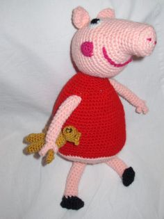 Peppa pig amigurumi by giovannacargnelli on Etsy, €40.00