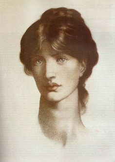 Dante Gabriel Rossetti, 1877, Study for a Vision of Fiammetta in the painting of 1878. Sitter: Mrs Maria Stillman, a pupil of Ford Madox Brown