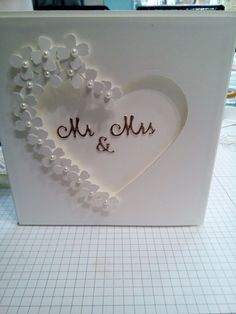White on white heart and flowers wedding card cards handmade Wedding Card Homemade Wedding Cards, Wedding Cards Handmade, Greeting Cards Handmade, Homemade Cards, Wedding Card Design, Card Wedding, Wedding Cars, Wedding Dress, Wedding Greetings