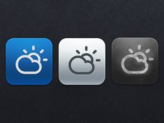 Pretty icon for weather app.
