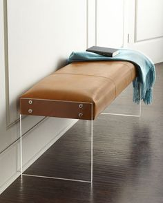 Wallis Leather Bench by INTERLUDE at Neiman Marcus.