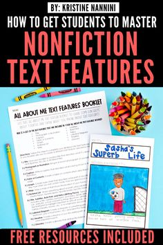 Freebies to Help Students Master Nonfiction Text Features 5th Grade Teachers, 3rd Grade Classroom, School Classroom, Classroom Activities, Reading Passages, Reading Comprehension, Nonfiction Text Features, Common Core Curriculum, Levels Of Understanding