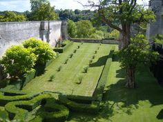 Minimalist French garden at the Donjon de Vez by landscape architect Pascal Cribier.