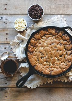 Hot Fudge Brown Butter Skillet Cookie
