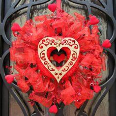 Dollar Store Craft - Valentine Wreath DIY