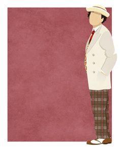 Doctor Who minimalist: Sylvester McCoy #DoctorWho #SylvesterMcCoy #Whovian #SciFi #SmallScreen #TV #art