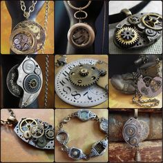 How to Create Steampunk jewelry tutorial  by steampunkjunk on Etsy, $49.95
