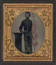 [Unidentified soldier in Union artillery uniform standing …   Flickr