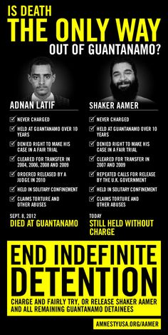 Is death the only way out of #Guantanamo? http://amnestyusa.org/aamer