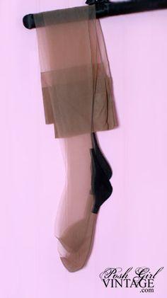 1950's Cuban Heel With Seams Vintage Stockings