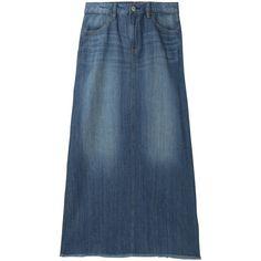 UNIQLO Women Denim Long Skirt 30 Found On Polyvore