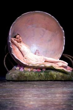 "Lesley Rausch as Titania in  ""Midsummer Night's Dream"" (Pacific Northwest Ballet). Photo: Angela Sterling"