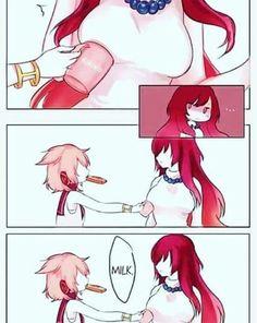 She need some milk lol Lol Memes, Funny Memes, Anime Meme, Funny Cute, Hilarious, Video Humour, Adult Humor, Anime Comics, Funny Comics