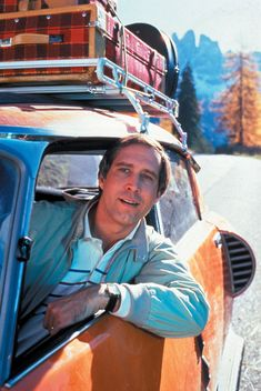 Chevy Chase in National Lampoons Vacation... Favorite physical comedian, all time favorite movie above all others.