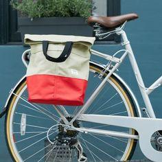 Linus Sac Bike Pannier Bag Sand & Red