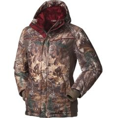 Field & Stream Women's Bomber Hunting Jacket  This coat is THE best....warm, comfortable, and easy to move in.