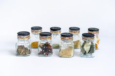 12 Piece Hanging Spice Rack-Silver   Etsy Glass Spice Jars, Glass Jars, Mason Jars, Spice Shelf, Spice Storage, Hanging Spice Rack, Under Cabinet Storage, Pots, Chalk Paint